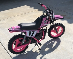 Customers Bike Yamaha PW50 Complete Pink Graphics Kit by Factory Ride