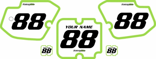 1988-1989 Kawasaki KX125 Custom Pre-Printed Background White - Green Bold Pinstripe by Factory Ride