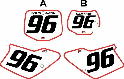 1996-2001 GAS GAS EC250 Custom Pre-Printed Background White - Red Bold Pinstripe by Factory Ride