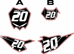 2020 Beta RR125 Black Pre-Printed Backgrounds - Red Pro Pinstripe by FactoryRide
