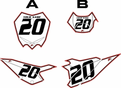 2020 Beta RR125 White Pre-Printed Backgrounds - Red Pro Pinstripe by FactoryRide