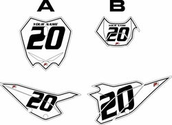 2020 Beta RR125 White Pre-Printed Backgrounds - Black Pinstripe by FactoryRide