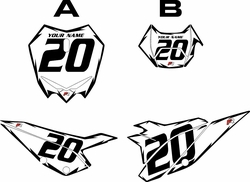 2020 Beta RR125 White Pre-Printed Backgrounds - Black Shock by FactoryRide