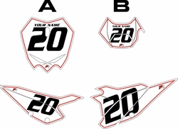 2020 Beta RR125 White Pre-Printed Backgrounds - Red Pinstripe by Factory Ride
