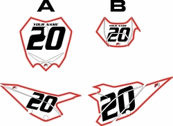2020 Beta RR125 White Pre-Printed Backgrounds - Red Bold Pinstripe by Factory Ride
