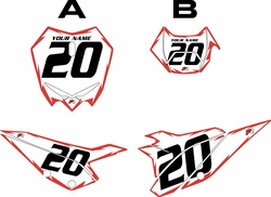2020 Beta RR125 White Pre-Printed Backgrounds - Red Shock by Factory Ride