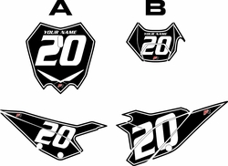 2020 Beta RR125 Black Pre-Printed Backgrounds - White Pinstripe by FactoryRide