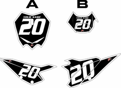 2020 Beta RR125 Black Pre-Printed Backgrounds - White Bold Pinstripe by FactoryRide