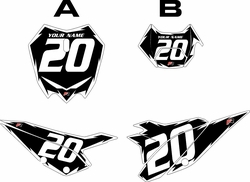 2020 Beta RR125 Black Pre-Printed Backgrounds - White Shock by FactoryRide
