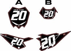 2020 Beta RR125 Black Pre-Printed Backgrounds - Red Pinstripe by FactoryRide