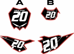 2020 Beta RR125 Black Pre-Printed Backgrounds - Red Bold Pinstripe by FactoryRide