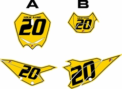 2020 Beta RR125 Yellow Pre-Printed Backgrounds - Black Pinstripe by FactoryRide