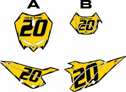 2020 Beta RR125 Yellow Pre-Printed Backgrounds - Black Shock by FactoryRide
