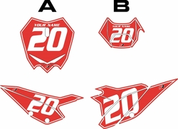 2020 Beta RR125 Red Pre-Printed Backgrounds - White Pinstripe by FactoryRide