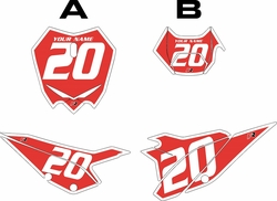 2020 Beta RR125 Red Pre-Printed Backgrounds - White Bold Pinstripe by FactoryRide