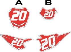 2020 Beta RR125 Red Pre-Printed Backgrounds - White Shock by FactoryRide