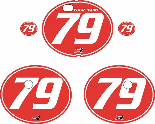 1979-1980 Suzuki RM250 Red Pre-Printed Backgrounds - White Pinstripe by FactoryRide