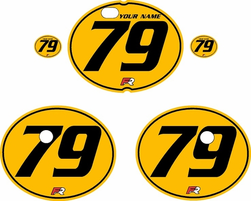 1979-1980 Suzuki RM250 Yellow Pre-Printed Backgrounds - Black Pinstripe by FactoryRide