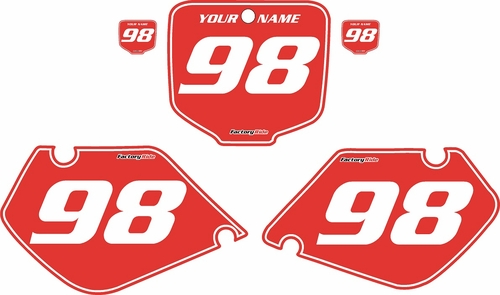 1998-1999 Honda CR125 Pre-Printed Backgrounds Red - White Pinstripe by FactoryRide