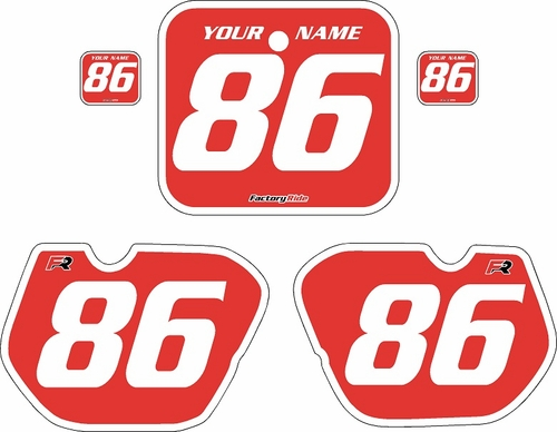 1985-1986 Honda CR250 Pre-Printed Backgrounds Red - White Bold Pinstripe by FactoryRide