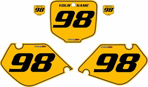 1997-1999 Honda CR250 Pre-Printed Backgrounds Yellow - Black Pinstripe by FactoryRide