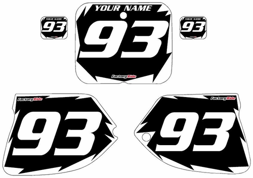 1993-1995-Suzuki-RM125 Custom Black Pre-Printed Background - White Shock Series by Factory Ride