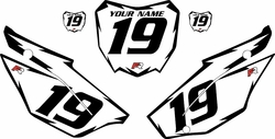 2019-2021 Honda CRF110 White Pre-Printed Backgrounds - Black Shock by FactoryRide