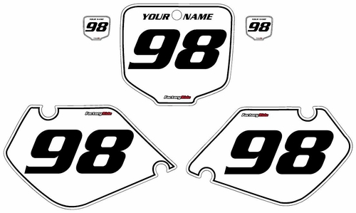 1997-1999 Honda CR250 White Pre-Printed Background - Black Pinstripe by FactoryRide