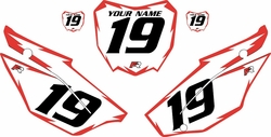 2019-2021 Honda CRF110 White Pre-Printed Backgrounds - Red Shock by FactoryRide
