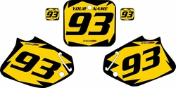1993-1994 Honda CR125 Pre-Printed Backgrounds Yellow - Black Shock Series by FactoryRide