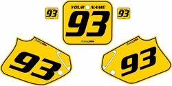 1993-1994 Honda CR125 Pre-Printed Backgrounds Yellow - Black Pinstripe by FactoryRide