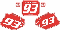 1993-1994 Honda CR125 Pre-Printed Backgrounds Red - White Pinstripe by FactoryRide