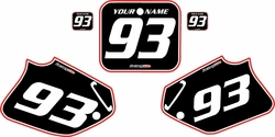 1993-1994 Honda CR125 Pre-Printed Backgrounds Black - Red Pro Pinstripe by FactoryRide