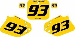 1993-1994 Honda CR125 Pre-Printed Backgrounds Yellow - Black Numbers by FactoryRide