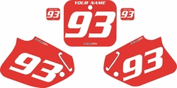 1993-1994 Honda CR125 Pre-Printed Backgrounds Red - White Numbers by FactoryRide