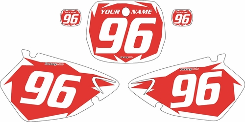 1996-1999 Yamaha YZ125 Custom Pre-Printed Background Red - White Shock Series by Factory Ride