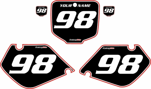 1998-1999 Honda CR125 Pre-Printed Backgrounds Black - Red Pro Pinstripe by FactoryRide