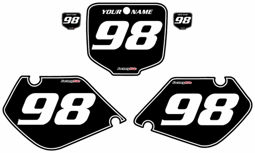 1997-1999 Honda CR250 Black Pre-Printed Background - White Pinstripe by FactoryRide