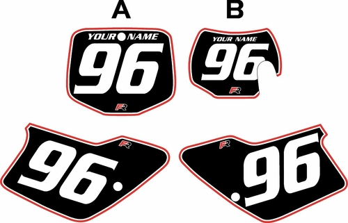1996-2001 GAS GAS EC125 Pre-Printed Backgrounds Black - Red Pro Pinstripe by FactoryRide