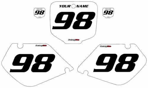 1998-1999 Honda CR125 White Pre-Printed Background - Black Numbers by FactoryRide