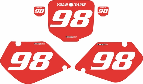 1997-1999 Honda CR250 Pre-Printed Backgrounds Red - White Numbers by FactoryRide