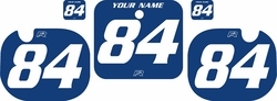 1984 Honda CR250 Blue Pre-Printed Backgrounds - White Numbers by FactoryRide