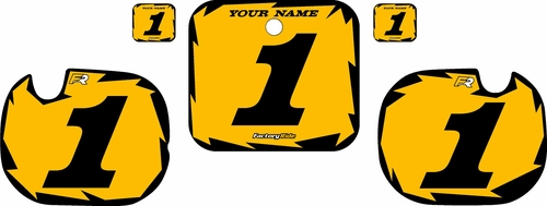 1984 Honda CR250 Pre-Printed Backgrounds Yellow - Black Shock Series by FactoryRide