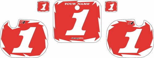 1984 Honda CR250 Pre-Printed Backgrounds Red - White Shock Series by FactoryRide