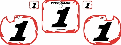1984 Honda CR250 Pre-Printed Backgrounds White - Red Shock Series by FactoryRide