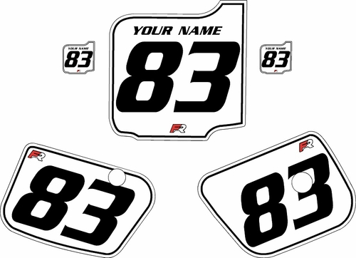 1983 Husqvarna CR250 Custom Pre-Printed Background White - Black Pinstripe by Factory Ride