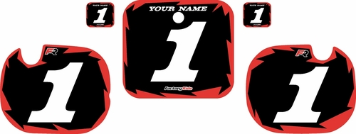 1984 Honda CR250 Pre-Printed Backgrounds Black - Red Shock Series by FactoryRide