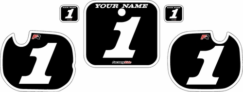1984 Honda CR250 Pre-Printed Backgrounds Black - White Bold Pinstripe by FactoryRide