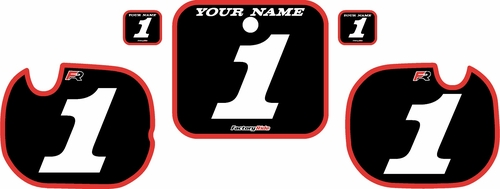 1984 Honda CR250 Pre-Printed Backgrounds Black - Red Bold Pinstripe by FactoryRide