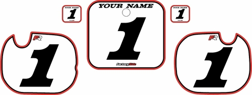 1984 Honda CR250 Pre-Printed Backgrounds White - Red Pro Pinstripe by FactoryRide